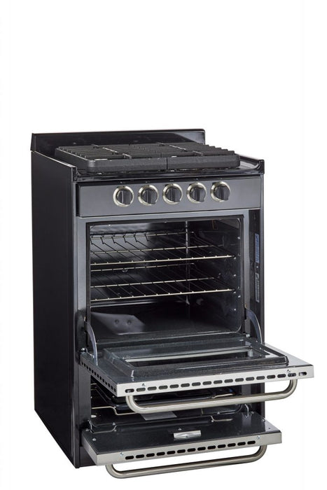 "UNIQUE 24"" Signature Gas Range - Stainless Steel + Window"