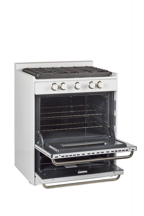 "UNIQUE 30"" Signature Gas Range - White with Window"