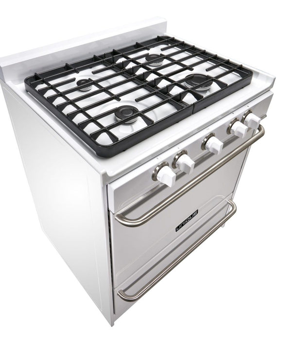 "UNIQUE 30"" Signature Gas Range - White"