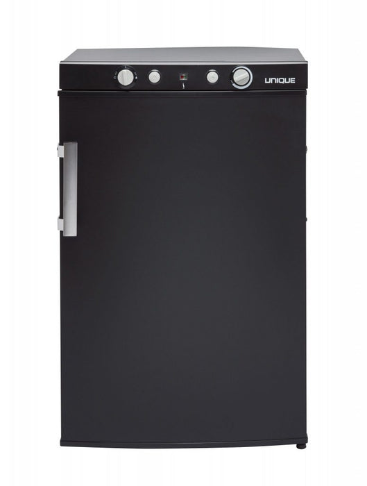 UNIQUE 3 CU/FT Propane Fridge with Freezer (LPG/110V/12V) - Black