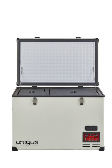 Unique 2.3 cu/ft Portable Solar AC/DC Powered Fridge/Freezer – 65 L Appliances Unique- The Cabin Depot Off-Grid Off Grid Living Solutions Cabin Cottage Camp Solar Panel Water Heater Hunting Fishing Boats RVs Outdoors