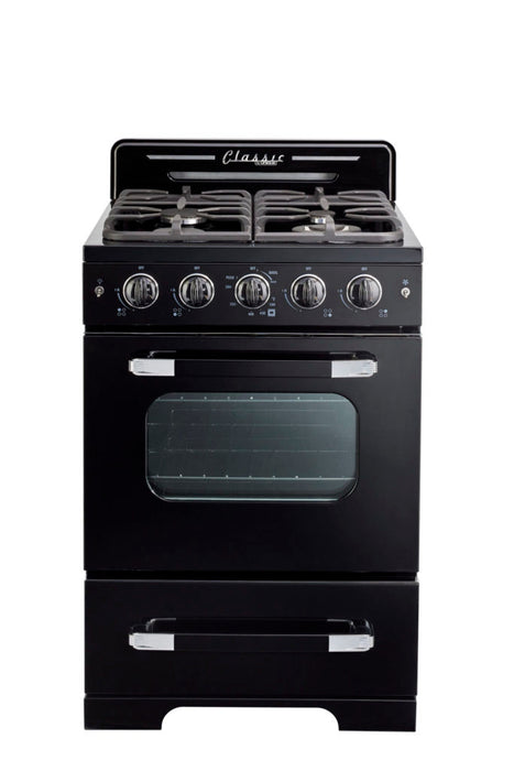 "*New* Classic Retro by Unique 24"" Convection Gas Range"