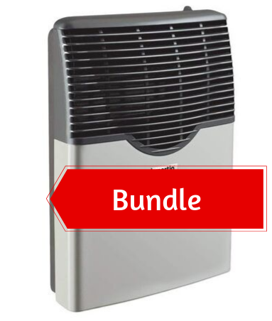 Martin Propane Direct Vent Heater MDV12P (11000 Btu) Bundle