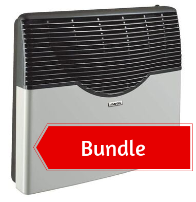 Martin Propane Direct Vent Heater MDV20P (20000 Btu) Bundle