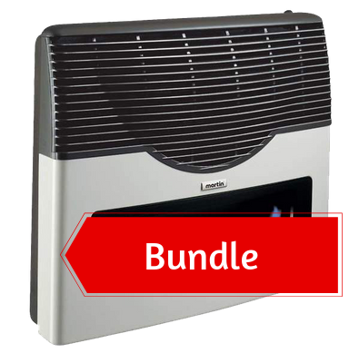 Martin Propane Direct Vent Heater MDV20VP (20000 Btu) Bundle
