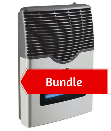 Martin Propane Direct Vent Heater MDV12VP (11000 Btu) Bundle