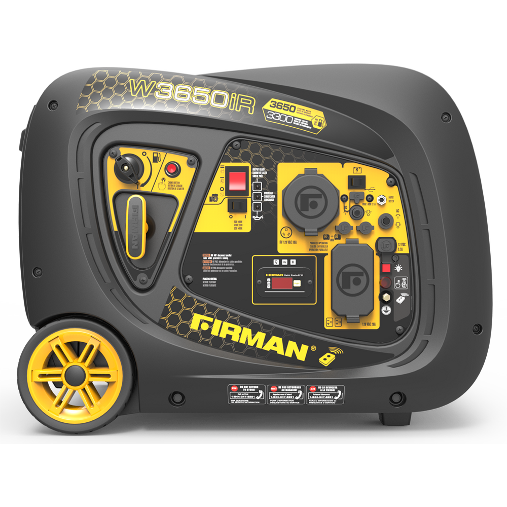 Firman Generator W03383 Whisper Series 3650/3300 Watt Remote Start Gas Portable Generator cETL and CARB Certified