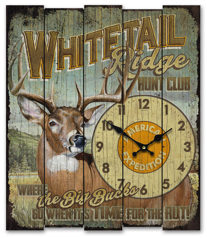 Wooden Cabin Sign Clock