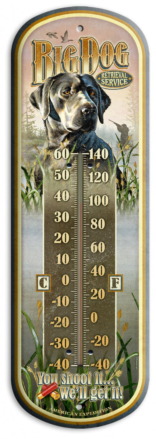 "Vintage Ad Large 17"" Tin Thermometers Leisure The Cabin Depot- The Cabin Depot Off-Grid Off Grid Living Solutions Cabin Cottage Camp Solar Panel Water Heater Hunting Fishing Boats RVs Outdoors"