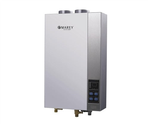 Marey 16L ETL LPG Water Heater Marey- The Cabin Depot Off-Grid Off Grid Living Solutions Cabin Cottage Camp Solar Panel Water Heater Hunting Fishing Boats RVs Outdoors