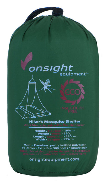 Onsight Hikers Mosquito shelter Leisure Eartheasy- The Cabin Depot Off-Grid Off Grid Living Solutions Cabin Cottage Camp Solar Panel Water Heater Hunting Fishing Boats RVs Outdoors