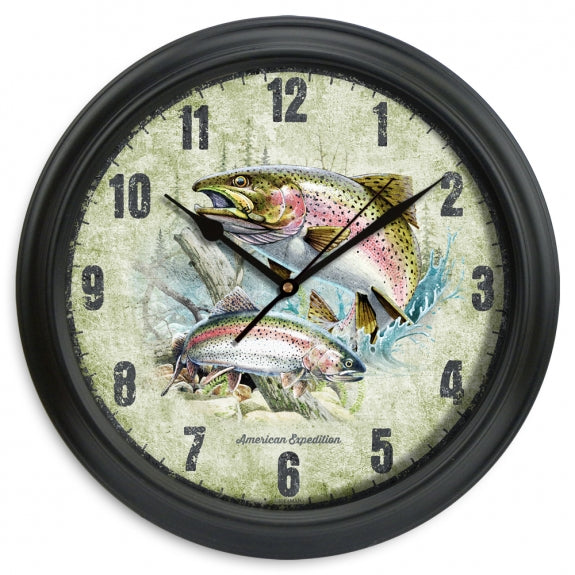 "Portrait Series 11.5"" Wall Clock Leisure The Cabin Depot- The Cabin Depot Off-Grid Off Grid Living Solutions Cabin Cottage Camp Solar Panel Water Heater Hunting Fishing Boats RVs Outdoors"