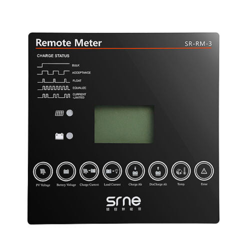 SRNE MPPT MT2410 Remote control LCD Display SR-RM-03  The Cabin Depot- The Cabin Depot Off-Grid Off Grid Living Solutions Cabin Cottage Camp Solar Panel Water Heater Hunting Fishing Boats RVs Outdoors