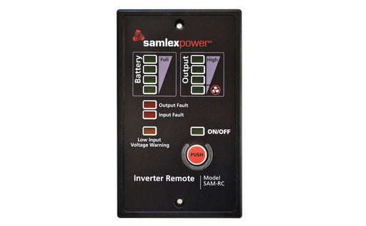 Samlex SAM-RC Remote for SAM 1000w-3000w Inverters Alternative Energy Samlex- The Cabin Depot Off-Grid Off Grid Living Solutions Cabin Cottage Camp Solar Panel Water Heater Hunting Fishing Boats RVs Outdoors