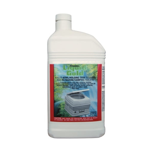 Liquid Gold Bowl and Tank Cleaner 1 Litre Waste Management The Cabin Depot- The Cabin Depot Off-Grid Off Grid Living Solutions Cabin Cottage Camp Solar Panel Water Heater Hunting Fishing Boats RVs Outdoors
