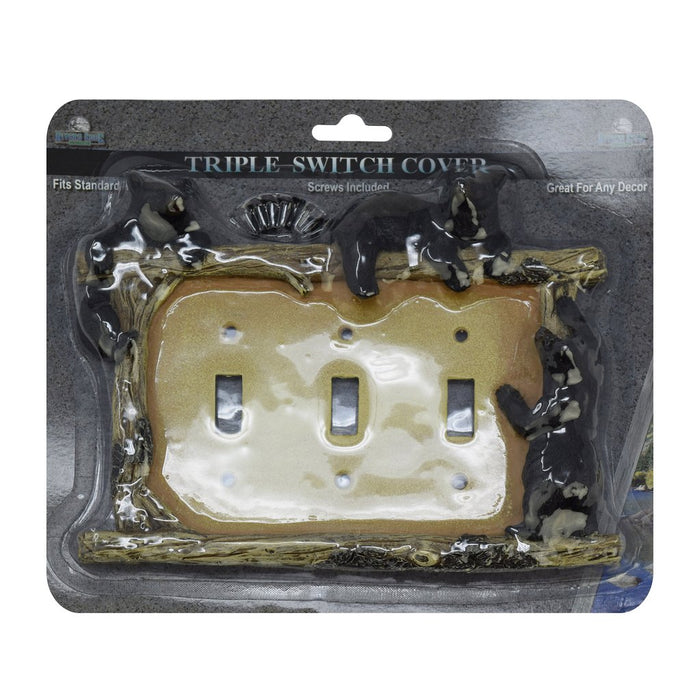 Switch Plate Cover Triple - Bear