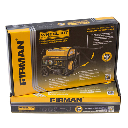 Firman Wheel Kit Fits the Medium Wattage Generators 3000 – 4900 Watts 1003 Generator Firman- The Cabin Depot Off-Grid Off Grid Living Solutions Cabin Cottage Camp Solar Panel Water Heater Hunting Fishing Boats RVs Outdoors