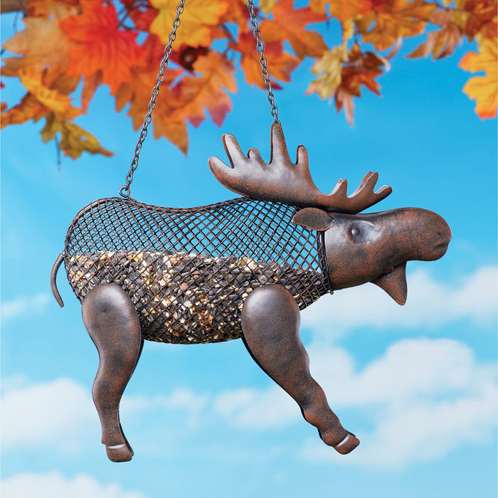 Mesh Moose Decorative Metal Bird Feeder Leisure Collections- The Cabin Depot Off-Grid Off Grid Living Solutions Cabin Cottage Camp Solar Panel Water Heater Hunting Fishing Boats RVs Outdoors