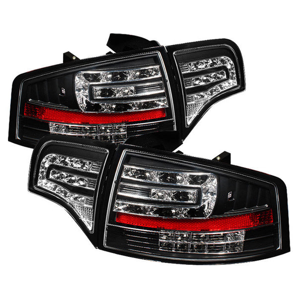 ( Spyder ) Audi A4 4Dr 06-08 LED Tail Lights - Black