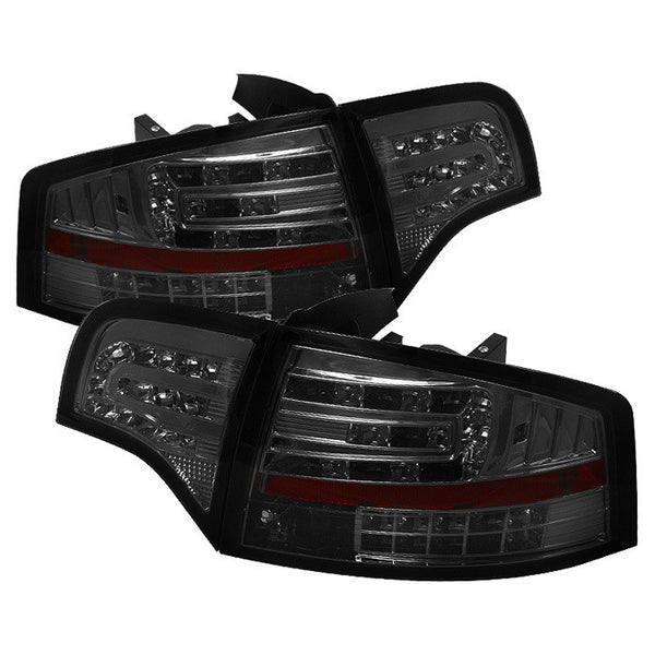 ( Spyder ) Audi A4 4Dr 06-08 LED Tail Lights - Smoke