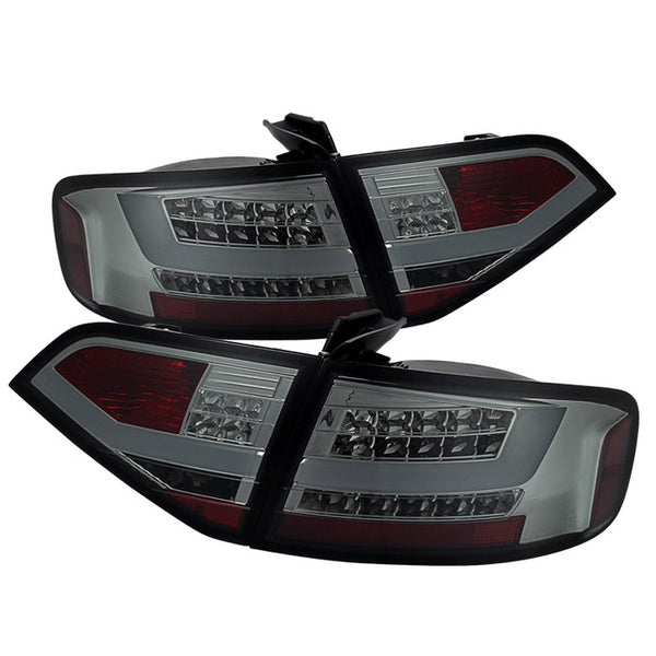 ( Spyder ) Audi A4 09-12 4Dr LED Tail Lights -  LED Model Only ( Not Compatible With Incandescent Model ) - Smoke