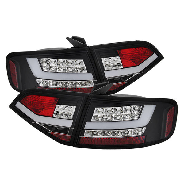 ( Spyder ) Audi A4 09-12 4Dr LED Tail Lights - Incandescent Model Only ( Not Compatible With LED Model ) - Black