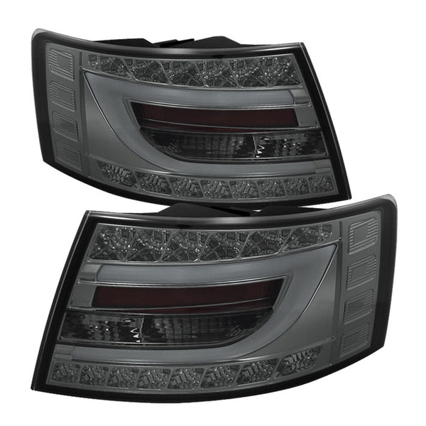 ( Spyder ) Audi A6 05-08 4Dr Sedan Only (Does not fit Quattro)  Light Bar LED Tail Lights - Smoke