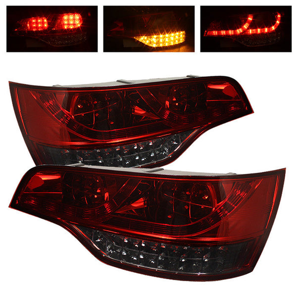 ( Spyder ) Audi Q7 07-09 LED Tail Lights - Red Smoke