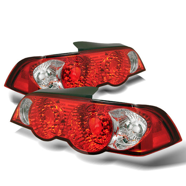 ( Spyder ) Acura RSX 02-04 LED Tail Lights - Red Clear
