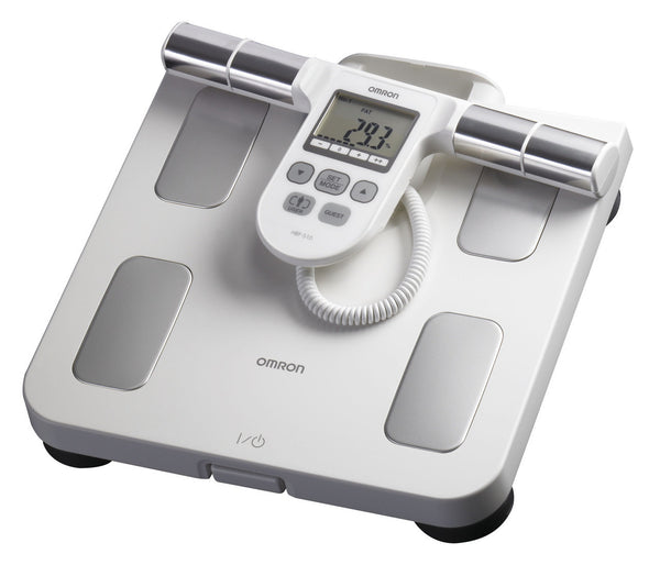 Omron HBF-510W Full Body Sensor Body Composition Monitor with Scale, 5 Fitness Indicators