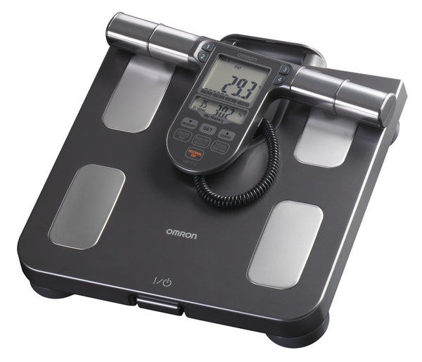 Omron HBF-514C Full Body Sensor Body Composition Monitor with Scale, 7 Fitness Indicators, 90 Day Memory