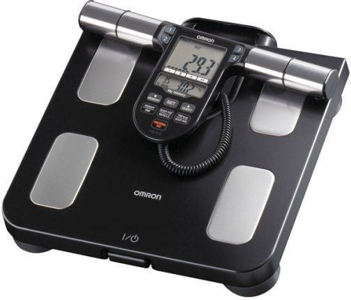 Omron HBF-516B Full Body Sensor Body Composition Monitor with Scale, 7 Fitness Indicators, 180 Day Memory