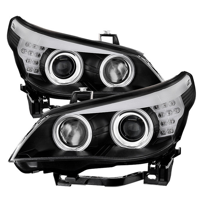 ( Spyder ) BMW E60 5-Series ( D1S HID ) 04-07 Projector Headlights - Factory Xenon Model Only ( Not Compatible With Halogen Model ) - CCFL - Black - High H7 (Included) - Low D1S (Not Included)
