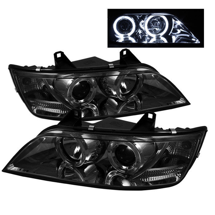 ( Spyder ) BMW Z3 96-02 Projector Headlights - LED Halo - Smoke - High H1 (Included) - Low H1 (Included)