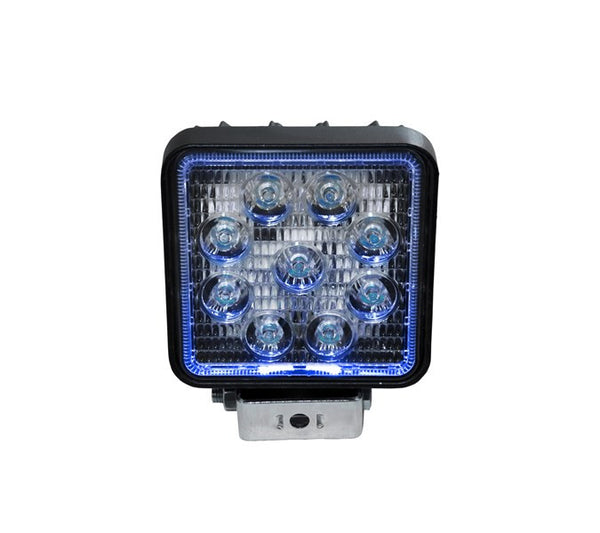 "4"" Square LED Spot Light with Blue Halo"