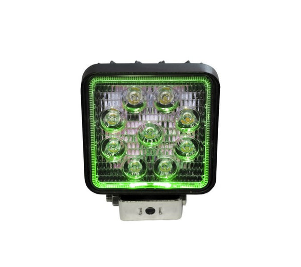 "4"" Square LED Spot Light with Green Halo"