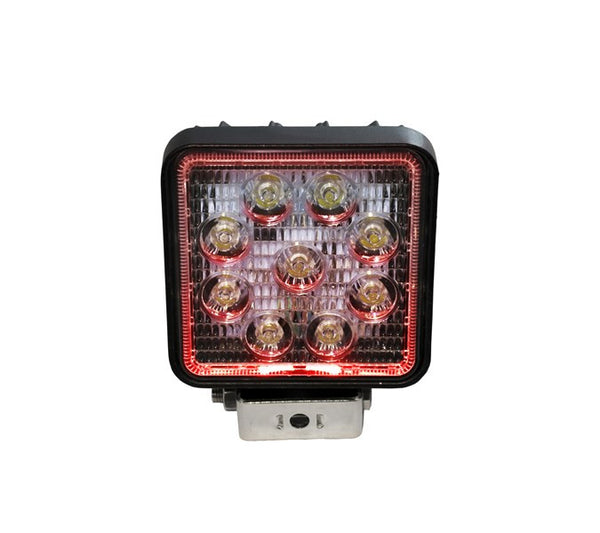 "4"" Square LED Spot Light with Red Halo"