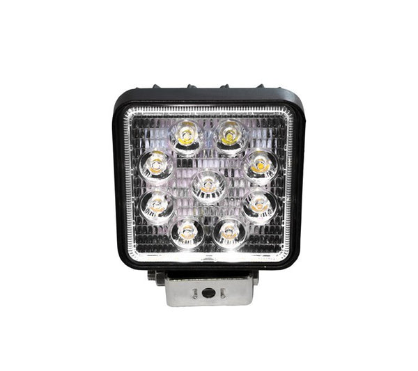 "4"" Square LED Spot Light with White Halo"