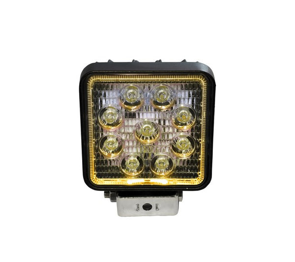 "4"" Square LED Spot Light with Yellow Halo"