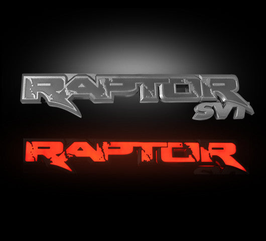 (09-14 Raptor) RECON Red LED Illuminated Tailgate Badge