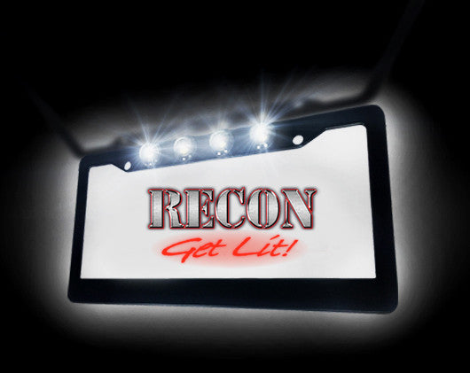 Illuminated Black Aluminum License Plate Frame by RECON