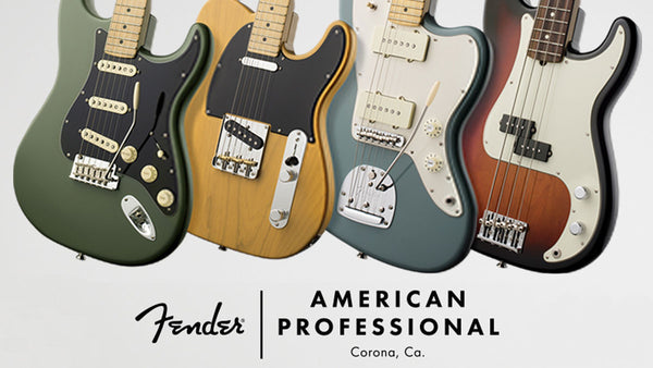 The new 2017 Fender American Professional Series