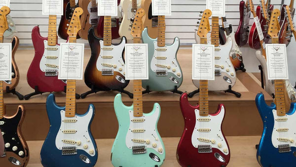 Another trip to Fender Custom shop to hand select new instruments