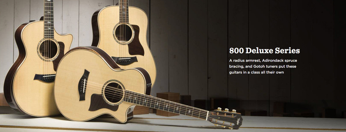 Taylor 800 Deluxe Series Acoustic Guitars