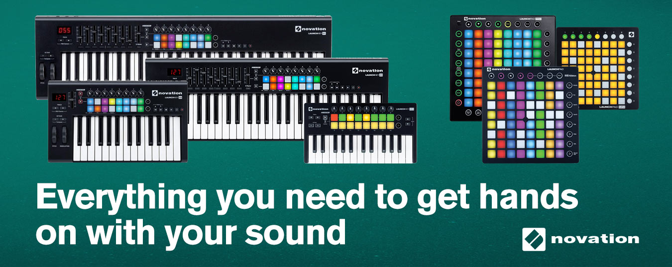Novation Launchkey 61-Key Controller and Launchpad MK2 USB MIDI Controller for Ableton Live