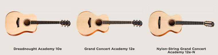 Taylor Academy Series Guitars