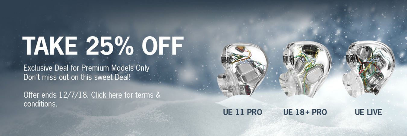 Ultimate Ears 25 Off Holiday Promo