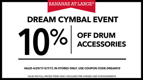 10% Off Drum Accessories
