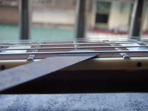 Action Example How Strings Sit Off the Fretboard