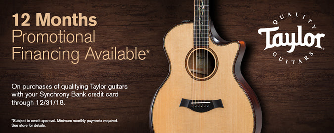 Taylor 18 Months Financing
